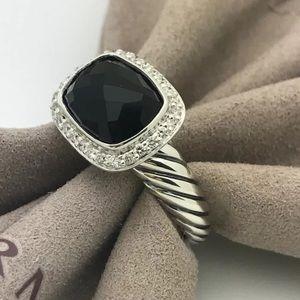 David Yurman black onyx & Diamond Noblesse Ring